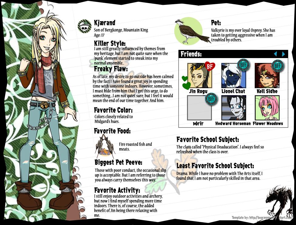 Kjaerand School's Out Bio by Shadow-People