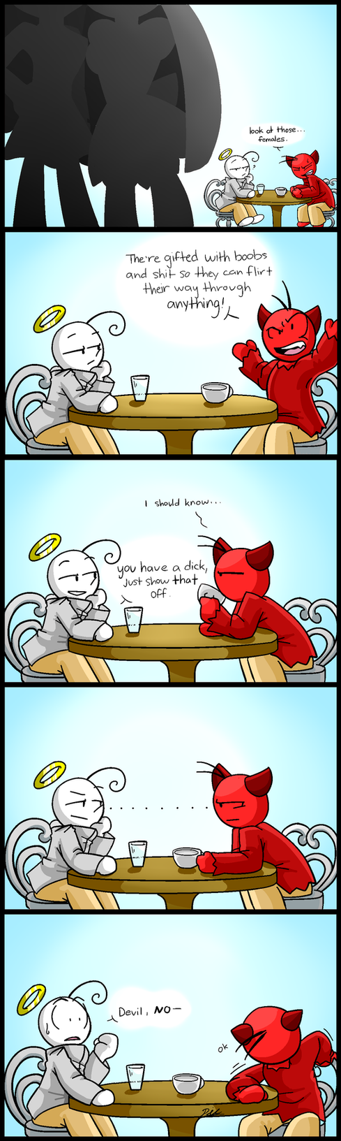 AnD Blooper  Comic (Advantages and dicks) by 321PieTime
