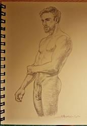 Male figure study 16-8-14 by sherwin-prague