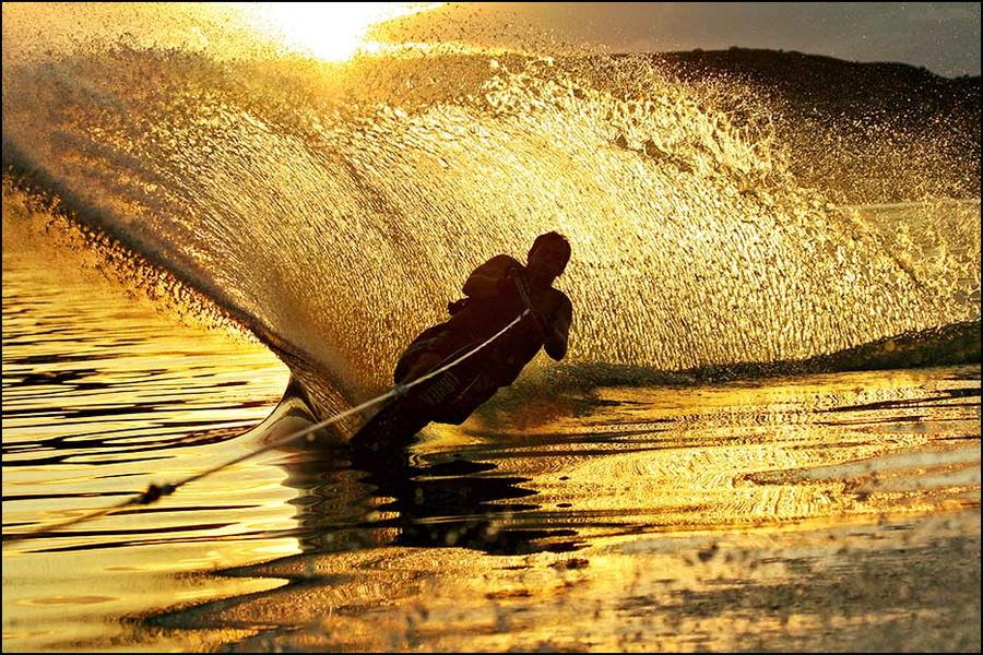 Sunset Ski by Behrfeet
