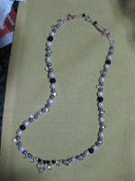 Pearl and Crystal Necklace by Batalha-Enterprises