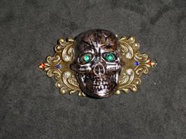 Skull Barrette by Batalha-Enterprises
