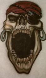 Airbrushed Pirate Skull by Batalha-Enterprises
