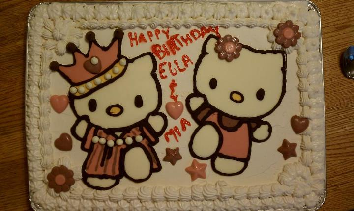 Hello Kitty Ice Cream Birthday Cake by Batalha-Enterprises