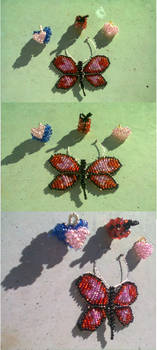 Heartfly, present and other heart necklace