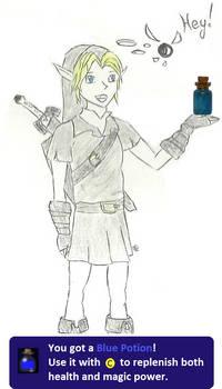 The legend of zelda, blue potion