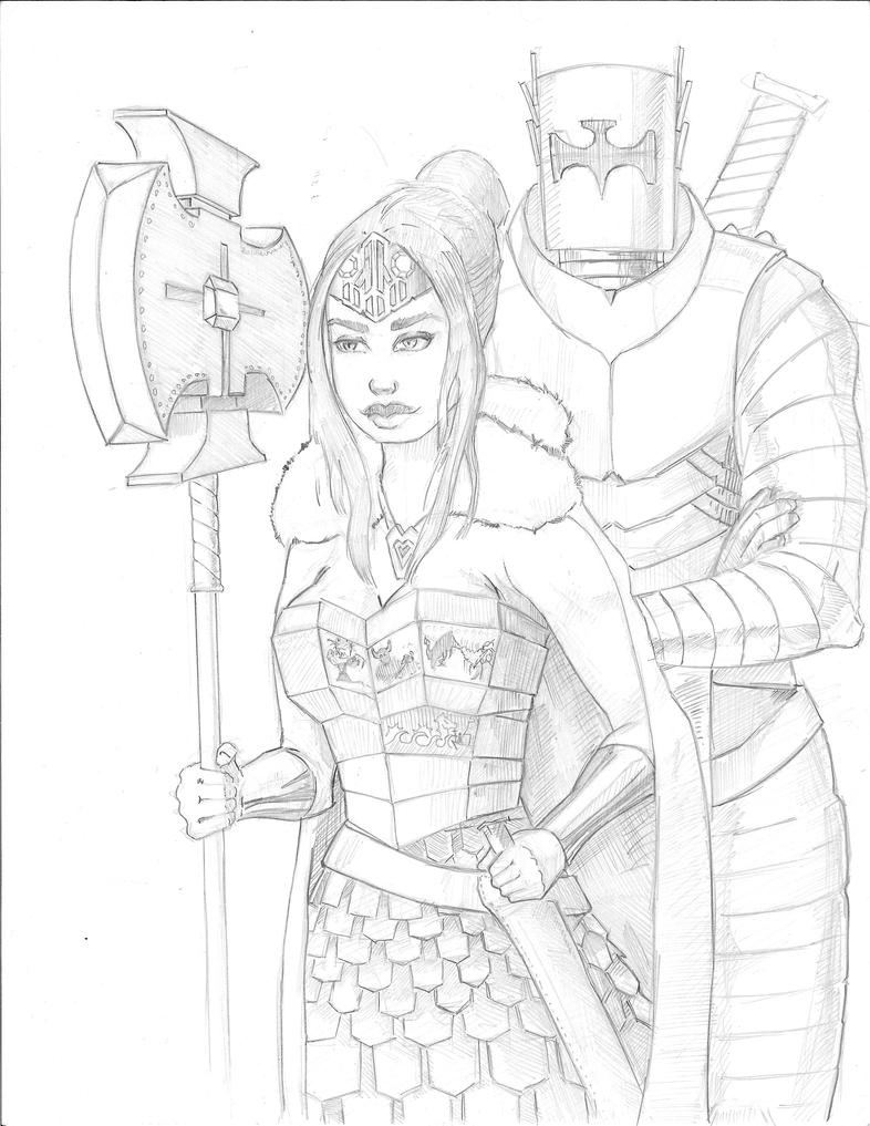 Knight And A Warrior by kylehost