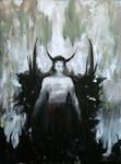 Outcast - Gouache and Acrylic on canvas