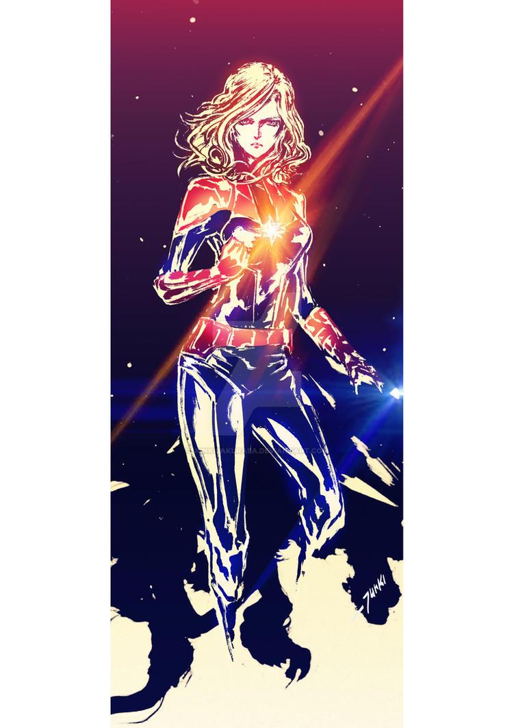 Captain Marvel by junkisakuraba