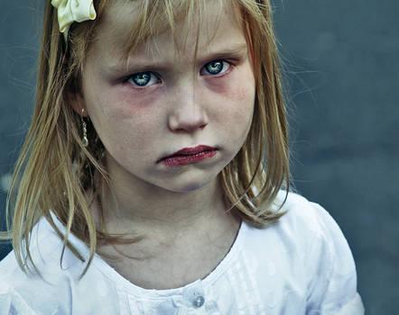 sad blue eyes