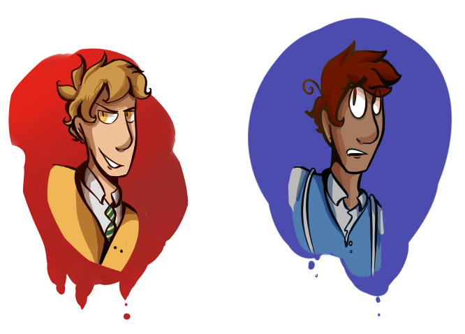Head shots of cousins by SeriousSillyness