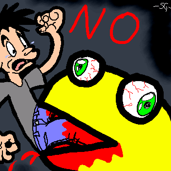 Bad Pacman, Stop Eating Him by SWJG