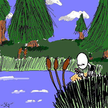 Mr. Gloomy At the Lake by SWJG