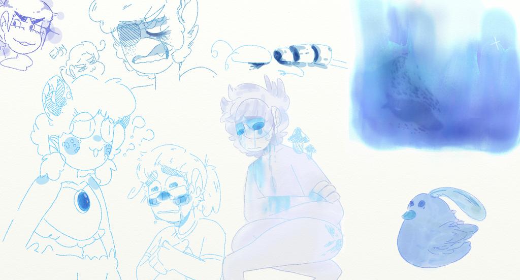 Im feeling pretty blue by derpityderpcrewz