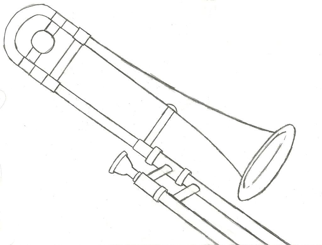 trombone sketch by BoltroBankai on DeviantArt  trombone sketch...