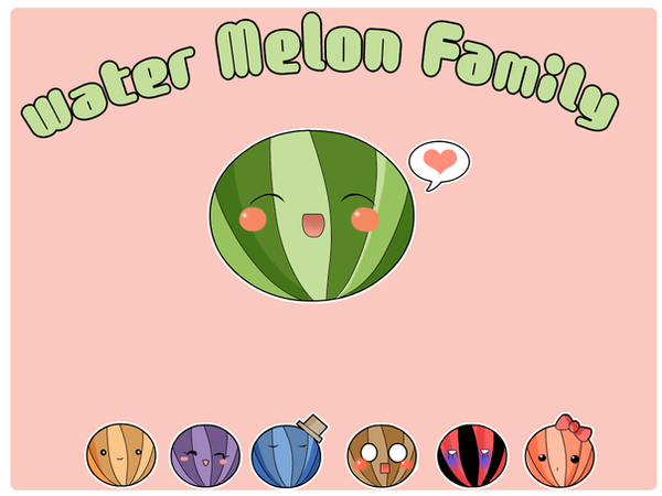 Water melon family by Shiirow
