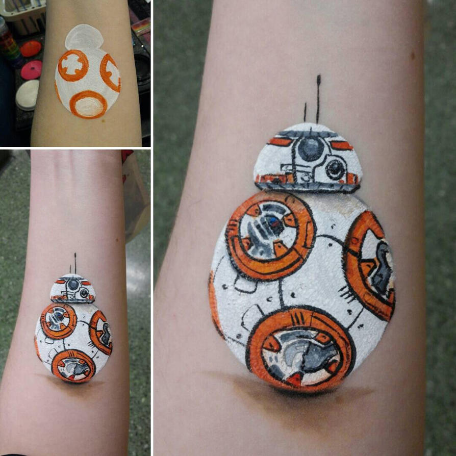 BB-8 Face Paint by a-chelsea-grin