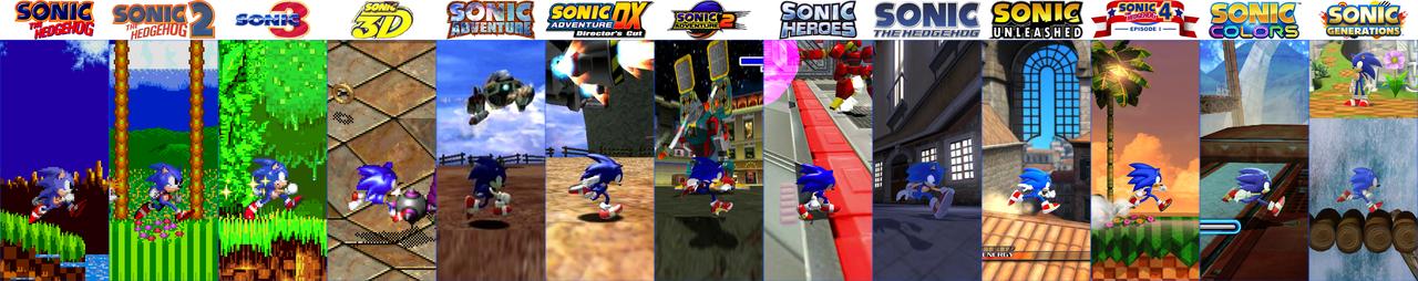 Sonic 20th Sonic Evolution by SirTobbii
