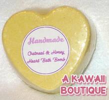 Oatmeal and Honey Heart Bath Bomb