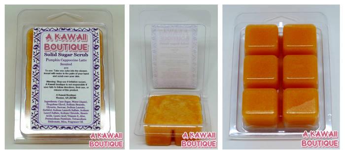 Solid Sugar Scrub Soap: Pumpkin Cappuccino Latte