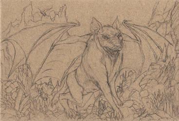 Postcard 4: The Air-Wolf (pencil)