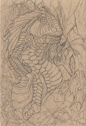Postcard 5: The Green Thing (pencil)