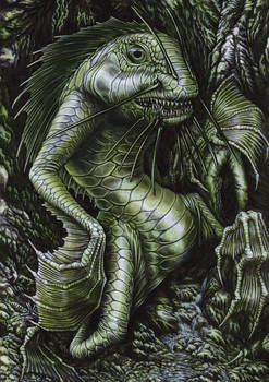Postcard 5: The Green Thing (painted)
