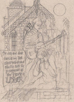 The House of Usher (pencil)