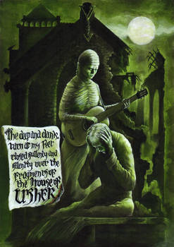 The House of Usher (painted)