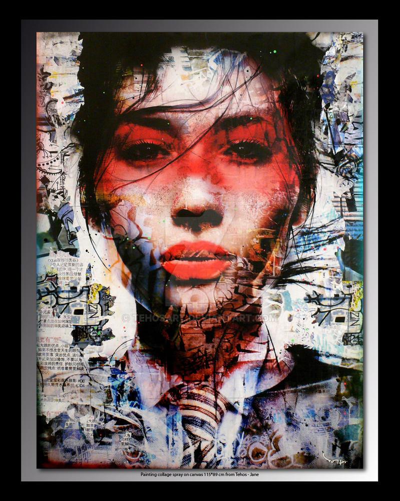 Tehos painting - Jane by tehosart