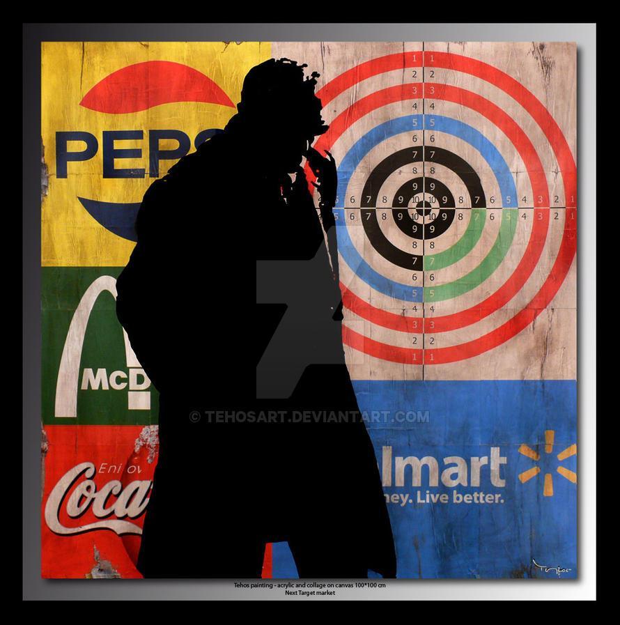 Tehos painting - Next Target Market - 100*100 cm by tehosart