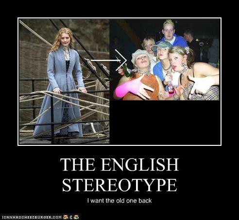 the insulting and comical british stereotypes Im british and i was wondering what people thought of when thy think of what are stereotypes about british people insulting other members.