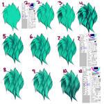 Paint tool SAI fur tutorial (info in description)