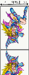 Dungeon dice monsters dark magician girl 2 W.I.P. by BordlineInsane