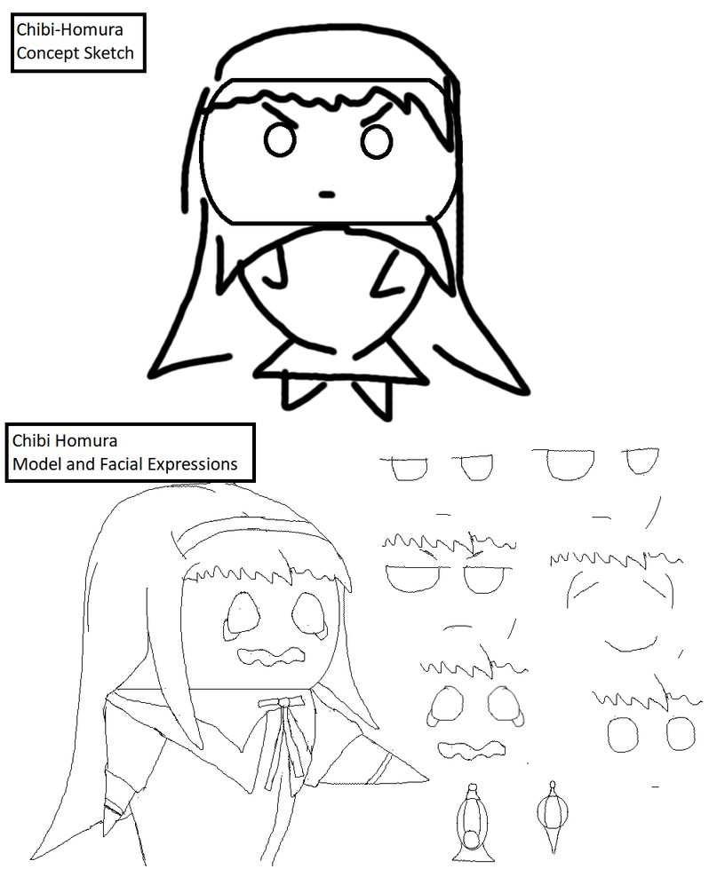 Homura Comic - Concept Sketches by Cypher-DS