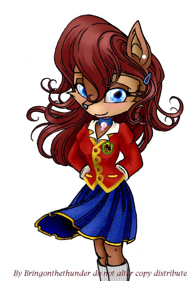 Sally Acorn - School Uniform by KissTheThunder