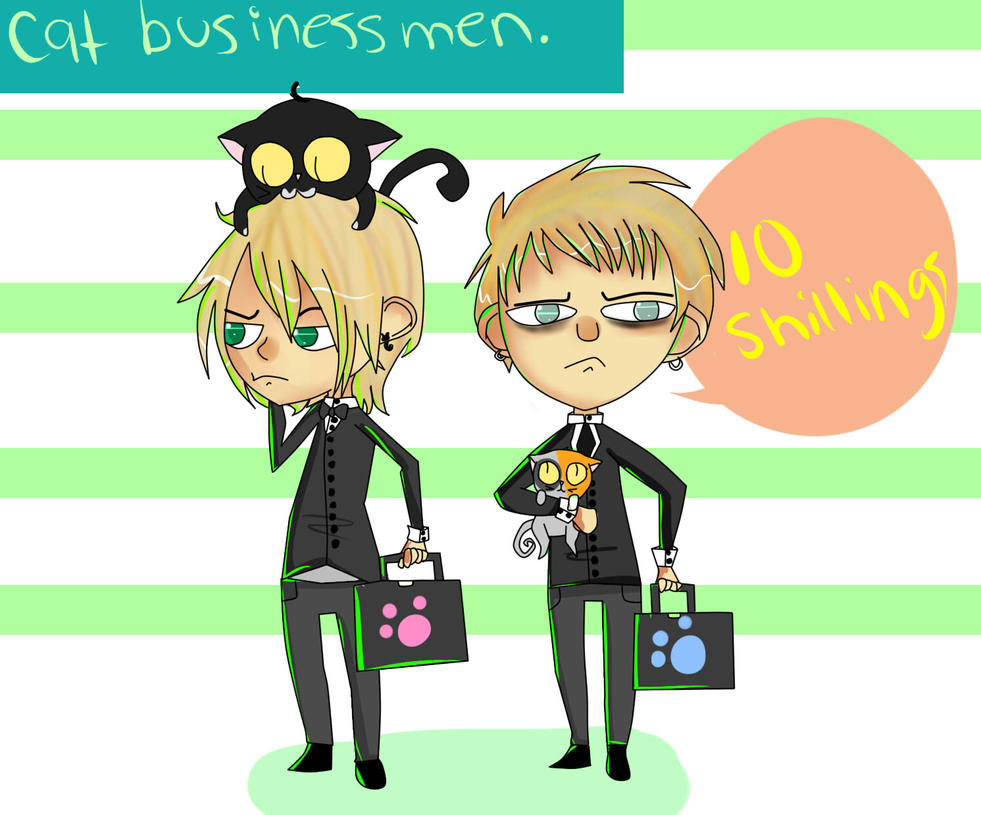Cat Businessmen by Buttsu