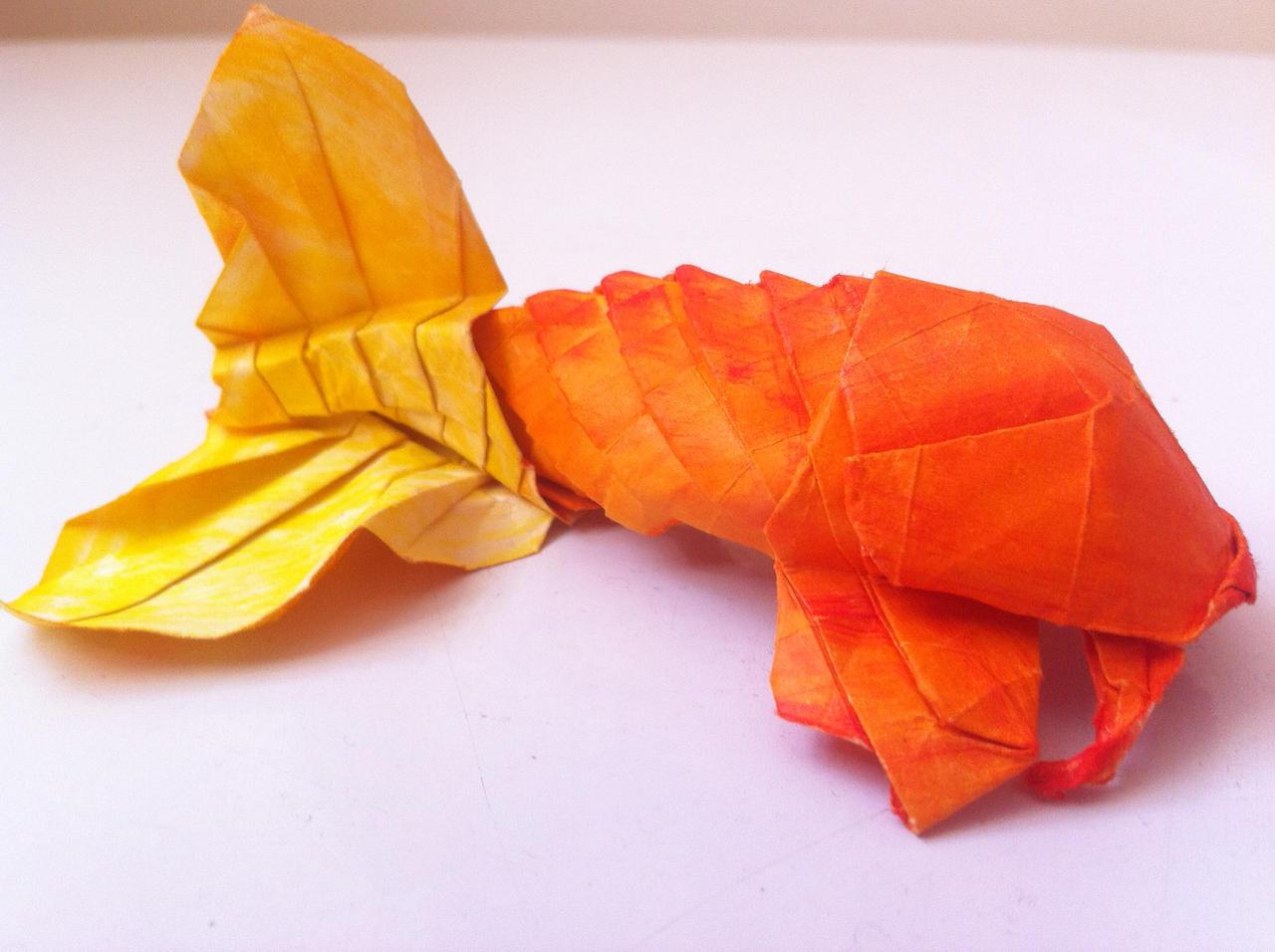 Origami koi 1 by kellaishleya on deviantart for Origami koi fish tutorial