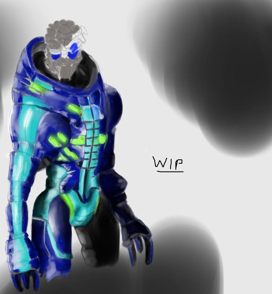 Garrus WIP by AntoinePhillips