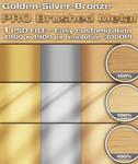 Brushed Metal Golden-Silver-Bronze