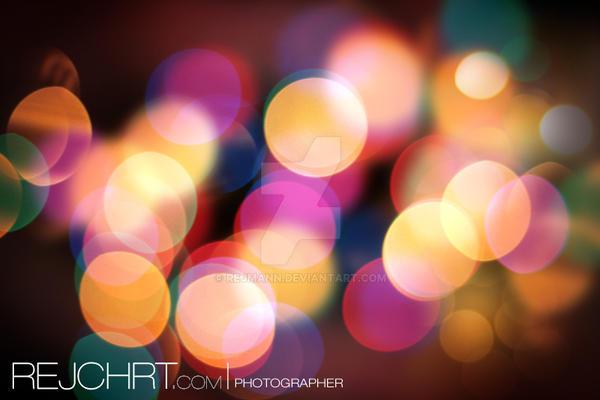 Christmas background lights by rejmann