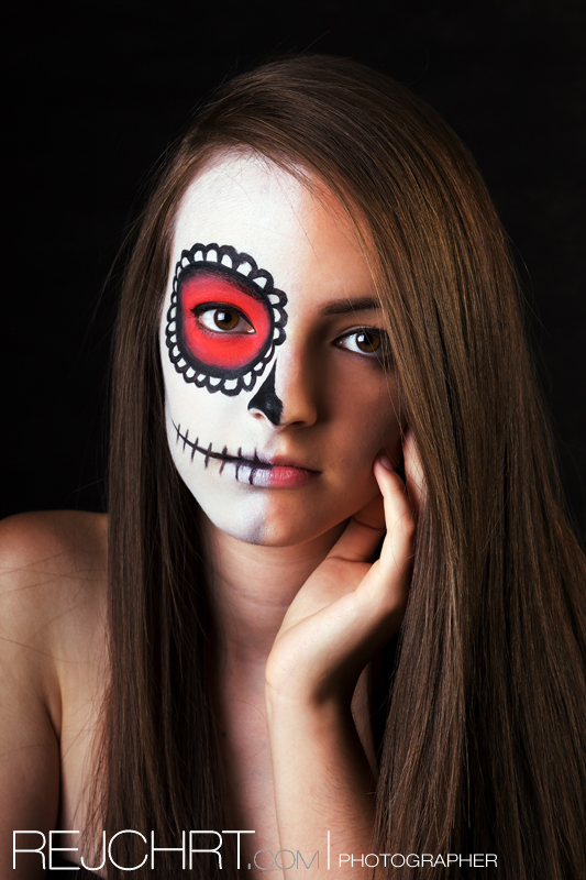 Sugar skull makeup by rejmann