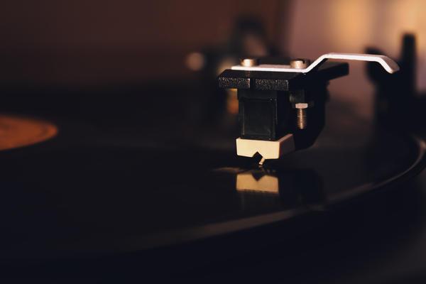 Stylus on a vinyl LP record by rejmann
