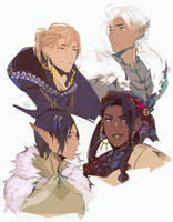 dragon age 2 companion redesigns by saleph