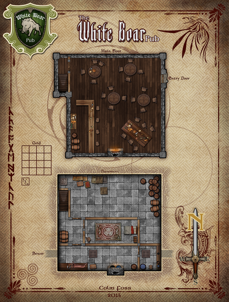 The White Boar Pub Rpg Map By Alegion On Deviantart