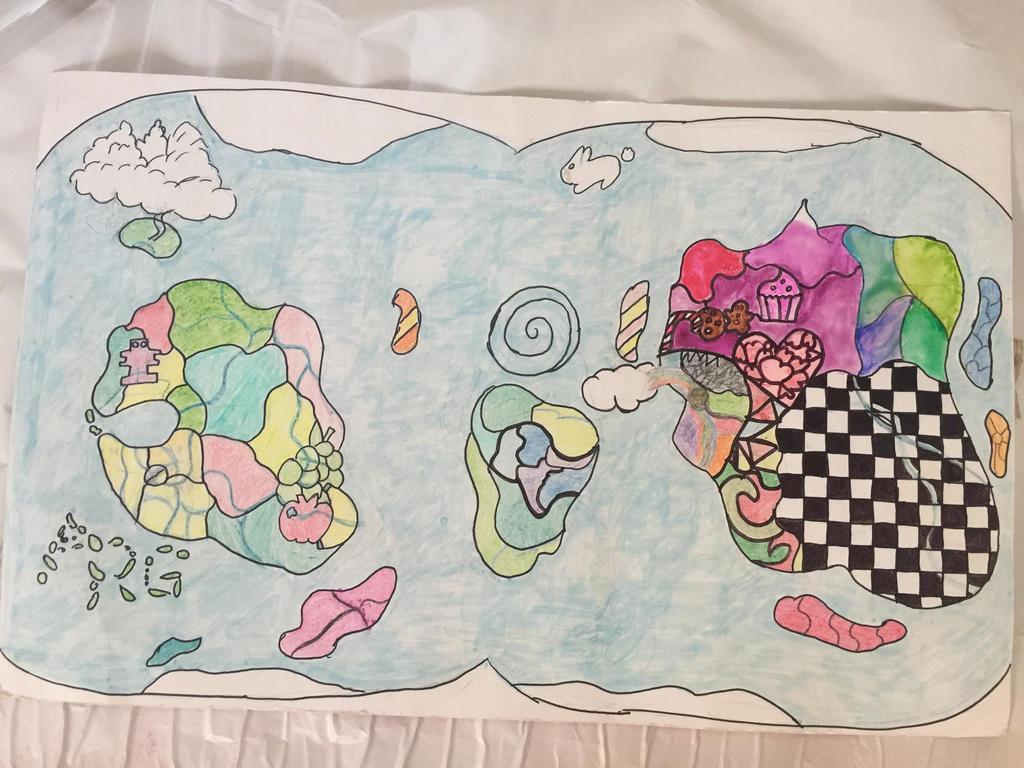 Creaturiean World Map: first draft by goodluckrubberduck