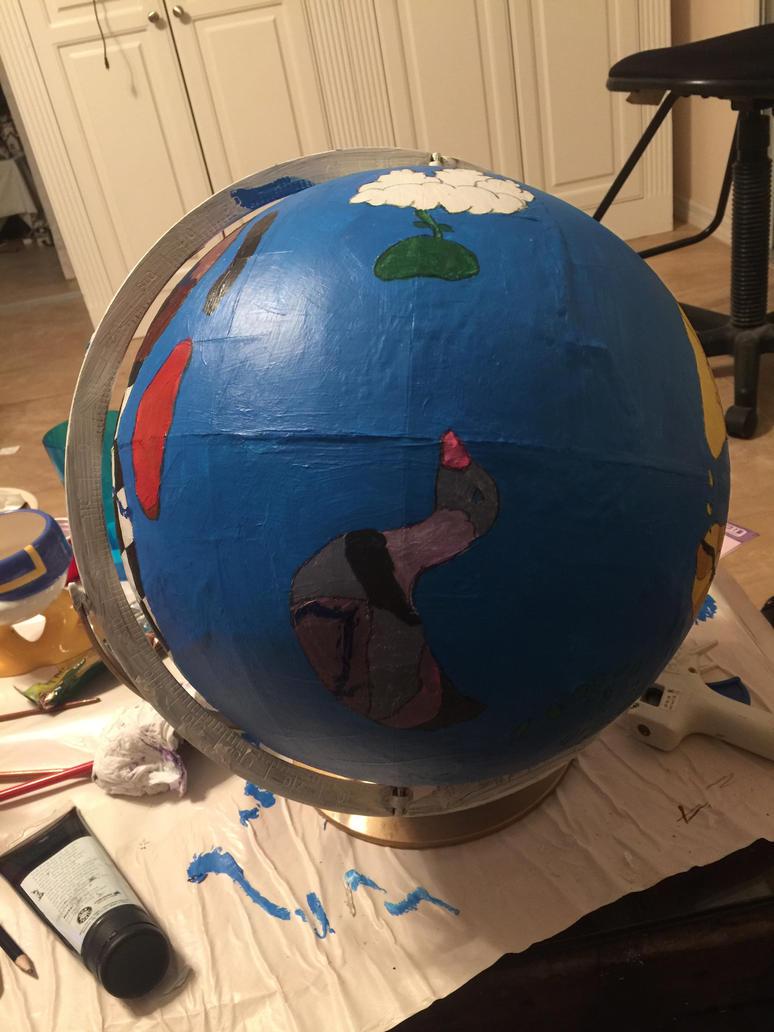 In Progress Creaturiea Globe: Motherland by goodluckrubberduck