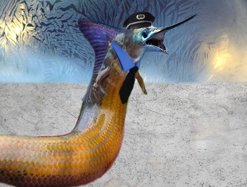 Skink Marlin Creature by goodluckrubberduck