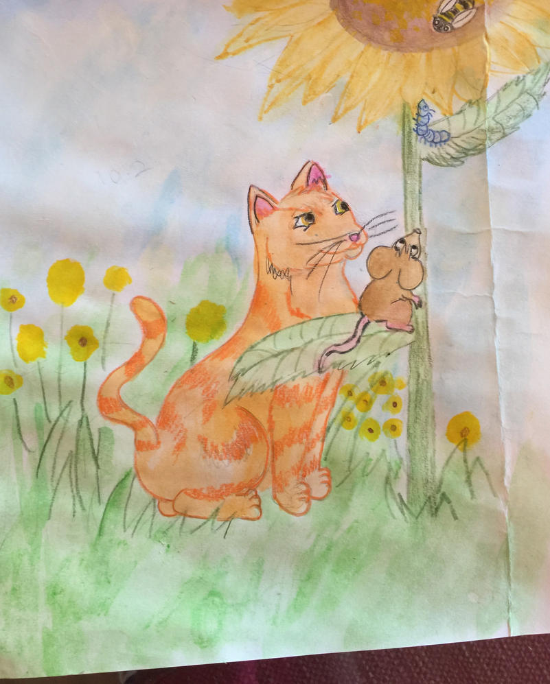 The Loveliest Sunflower Pg 10.2 (painted) by goodluckrubberduck