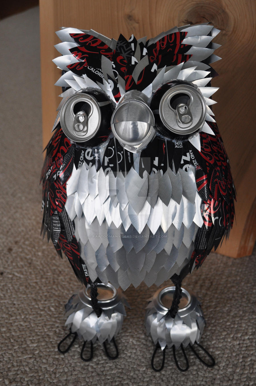 'Zero', the Coke Can Owl by FarTooManyIdeas